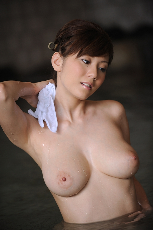 Naked in the water; Asian Big Tits