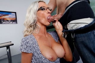 Emma Starr & Giovanni Francesco in My First Sex Teacher - Naughty America; Blonde Blowjob MILF Pornstar Cougar
