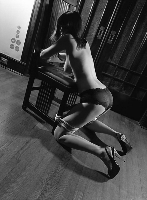 Solo first time nude high heels
