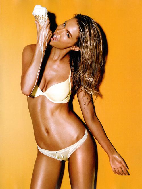 ...; Babe Beautiful Blonde Eyes Face Hot Hot Body Lingerie Non Nude Posing Skinny Teasing