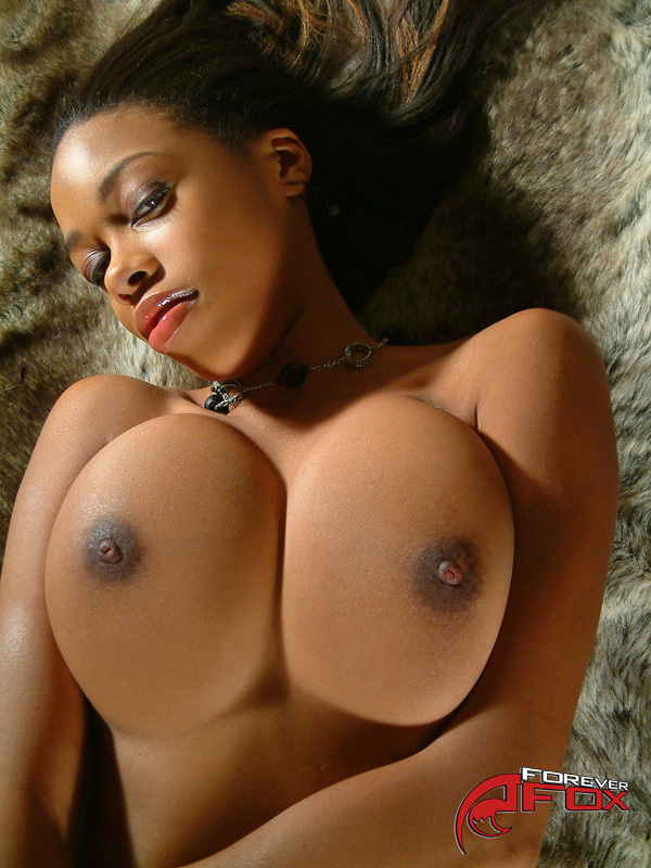 Brown ebony naked big tits