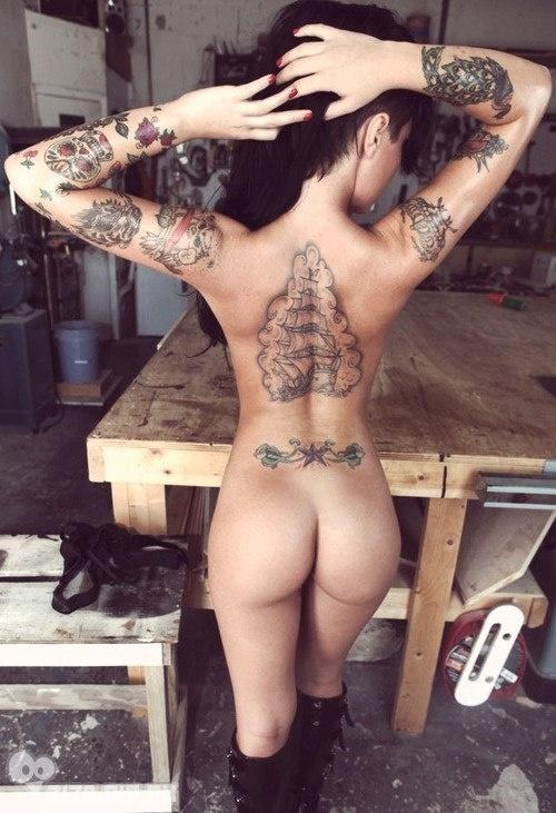 Порно фото девушек с тату 87422 фотография