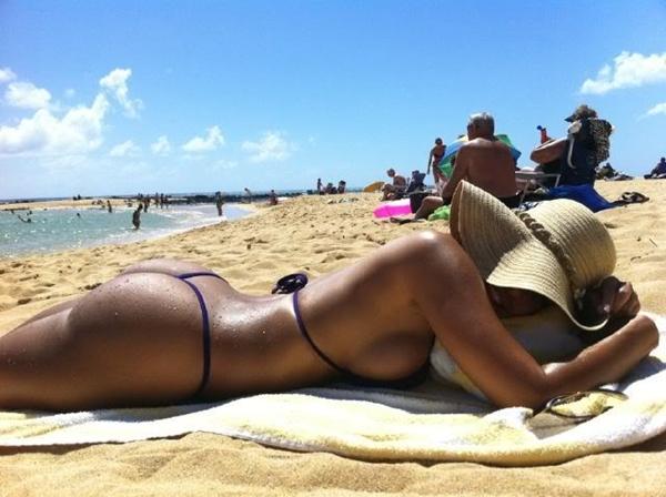 Tanning hottie image by HotPicCollector - Photobucket; Ass