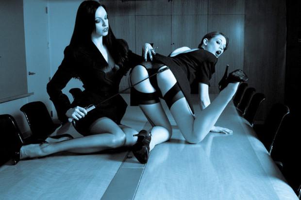 ...; BDSM Heels Lingerie Nylons Office Spank