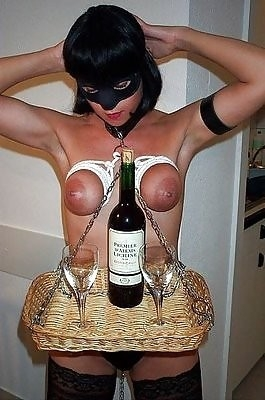 Wine bottle holder; Fetish