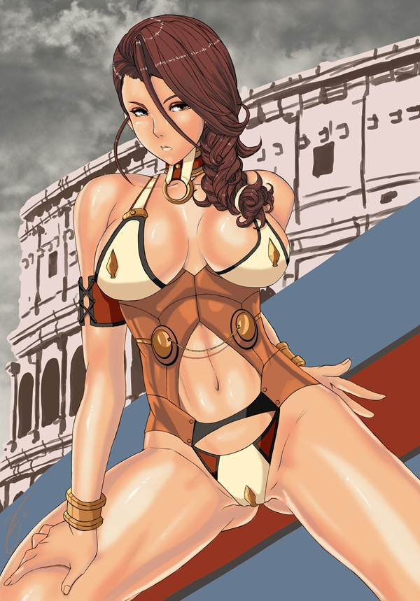 Queen's Blade Branwen by *Su0grey on deviantART; Babe HD Hentai