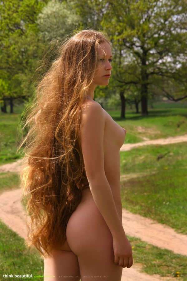 nude women with long hair № 64173