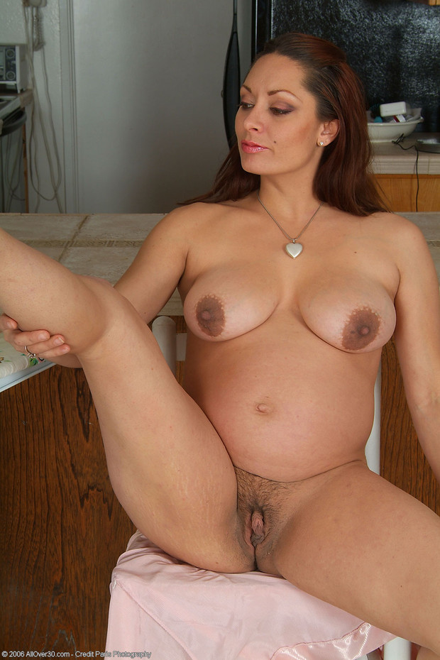 Big brunette mature natural tit All