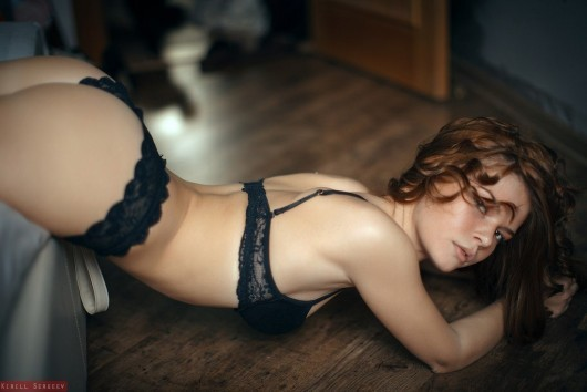 ...; Hot Lingerie Non Nude Panties Red Head
